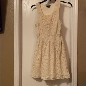 Beige crochet dress